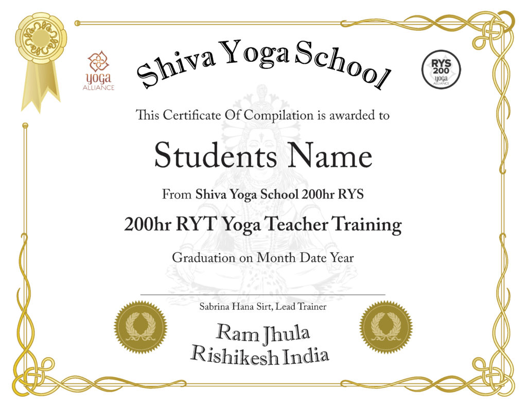 Yoga Teacher Training Shiva Yoga School